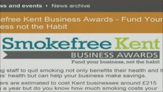 Smokefree Kent web page