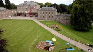 Haddo House excavations [Pic: National Trust for Scotland]