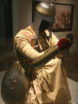 Sikh warrior outfit on show