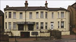 The Darnley Hotel building in Southend