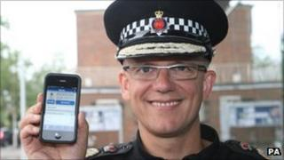 Chief Constable Mark Rowley launched the new phone app