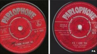 Beatles signed singles