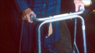Elderly woman in care home - generic