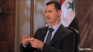 Syrian President Bashar al-Assad speak on Syrian TV (21 Aug 2011)