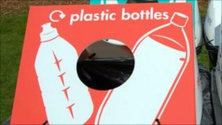 A box for plastic bottle recycling