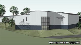 The proposed new sports centre