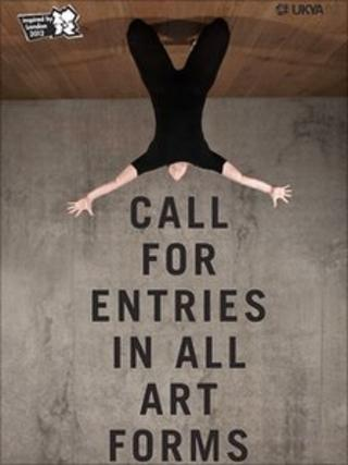 UK Young Artists poster calling for entries in all art forms for World Event Young Artists