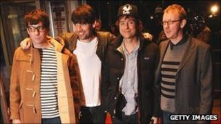Blur, left to right, Graham Coxon, Alex James, Damon Albarn and Dave Rowntree (Photo: Getty Images)
