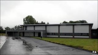 The new repatriation centre at RAF Brize Norton in Oxfordshire.