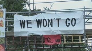 We won't go sign