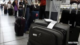 Passengers at JFK airport in New York