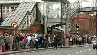 Queues at Nottingham station