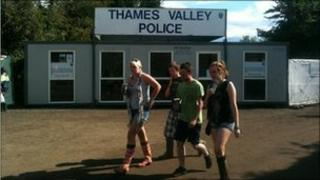 The Thames Valley Police station on-site at Reading Festival