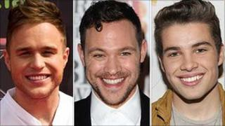 Olly Murs, Will Young and Joe McElderry