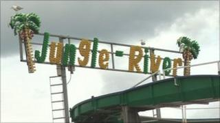 Jungle River log flume ride