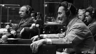Hermann Goering at Nuremberg