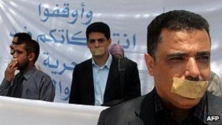 Yemeni journalists protest against restrictions