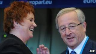 Sharon Bowles with Jean-Charles Juncker