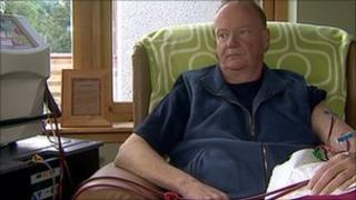 Martin MacRae on dialysis machine