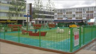 The new playground area at Stone Cross market in Harlow