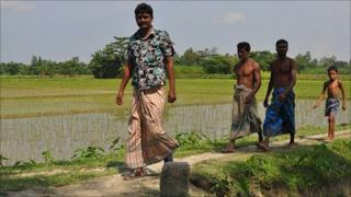 Villagers in Kalirhat village