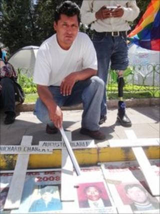 Victim's brother Juan Patricio Quispe Mamani