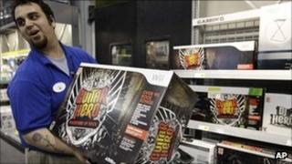 Retailer showing Guitar Hero box
