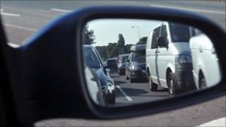 Traffic in mirror
