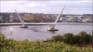 Peace bridge in Derry