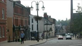 Yorke Street, Wrexham, looking towards the Tuttle Street chimney