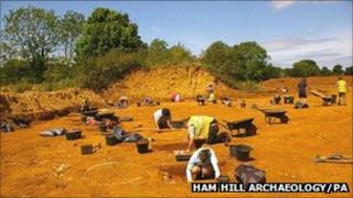 A major excavation has begun at Ham Hill, Somerset - Britain's largest Iron Age hill fort