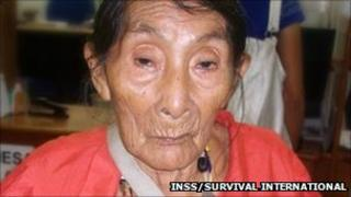 Brazilian Kaxinawa tribe member Maria Lucimar Pereira, said to be 121 years old on Saturday (pic courtesy INSS/Survival International)