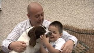 Sean Fenton and his son Joe