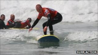 A Surf Action lesson