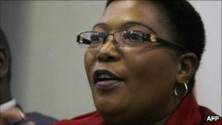 Deputy Prime Minister Thokozani Khupe (file photo)