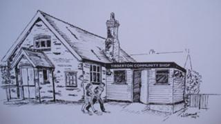 An artist's impression of the community shop at Tibberton