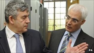 Gordon Brown and Alistair Darling in 2009