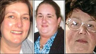 Suzanne Pilley, Lynda Spence and Margaret Gardiner