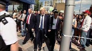 Boris Johnson in Clapham Junction