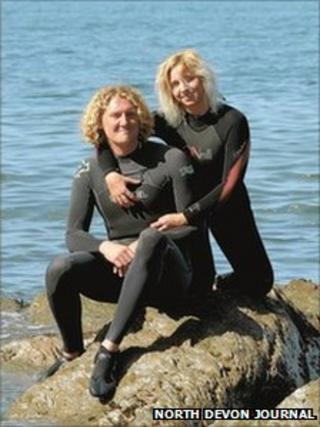 Samson Hutson and Becky Watkinson