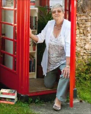 Carolyn Dolan had the idea for the new lending library in Box, Gloucestershire