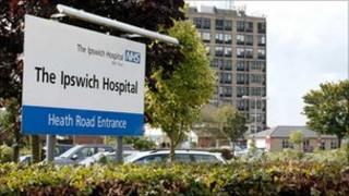 The Ipswich Hospital main entrance