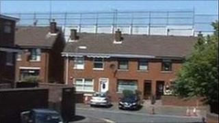 West Belfast peace line