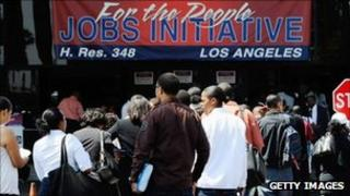 Jobs fair in LA organised by the Congressional Black Caucus