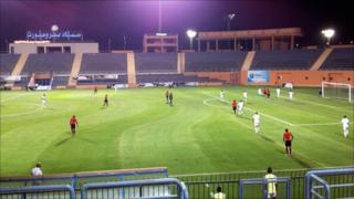 Libya plays Mozambique in Cairo