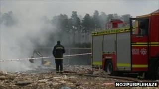 Landfill fire at Verwood PHOTO: No2PurpleHaze