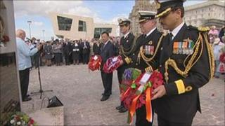 The service was followed by a parade and wreath laying ceremony