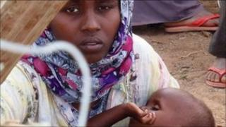 A Somali refugee and her baby - Pic: ShelterBox