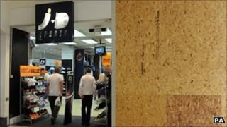 JD Sports after the rioting