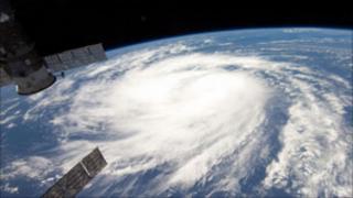 Satellite image of Hurricane Katia